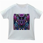 Sly Dog Modern Grunge Style Blue Pink Violet Kids White T-Shirts Front