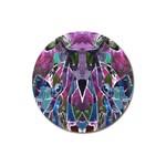 Sly Dog Modern Grunge Style Blue Pink Violet Magnet 3  (Round) Front