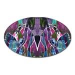 Sly Dog Modern Grunge Style Blue Pink Violet Oval Magnet Front