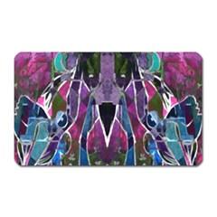 Sly Dog Modern Grunge Style Blue Pink Violet Magnet (Rectangular)
