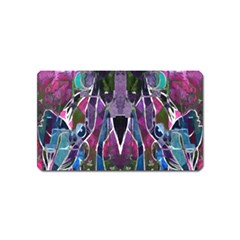 Sly Dog Modern Grunge Style Blue Pink Violet Magnet (Name Card)