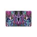 Sly Dog Modern Grunge Style Blue Pink Violet Magnet (Name Card) Front