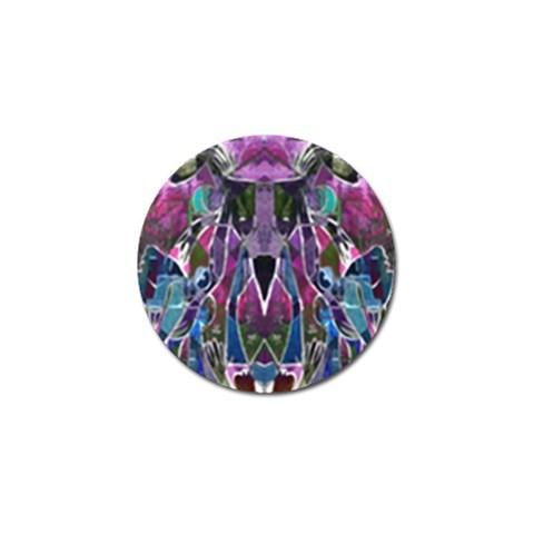 Sly Dog Modern Grunge Style Blue Pink Violet Golf Ball Marker (4 pack)