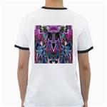 Sly Dog Modern Grunge Style Blue Pink Violet Ringer T-Shirts Back