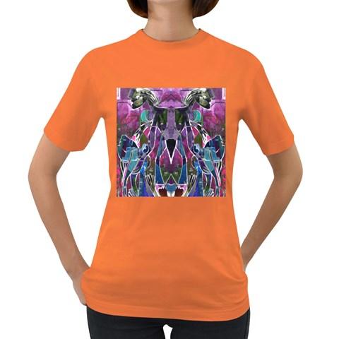 Sly Dog Modern Grunge Style Blue Pink Violet Women s Dark T-Shirt