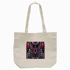 Sly Dog Modern Grunge Style Blue Pink Violet Tote Bag (Cream)