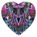 Sly Dog Modern Grunge Style Blue Pink Violet Jigsaw Puzzle (Heart) Front