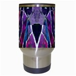 Sly Dog Modern Grunge Style Blue Pink Violet Travel Mugs (White) Center