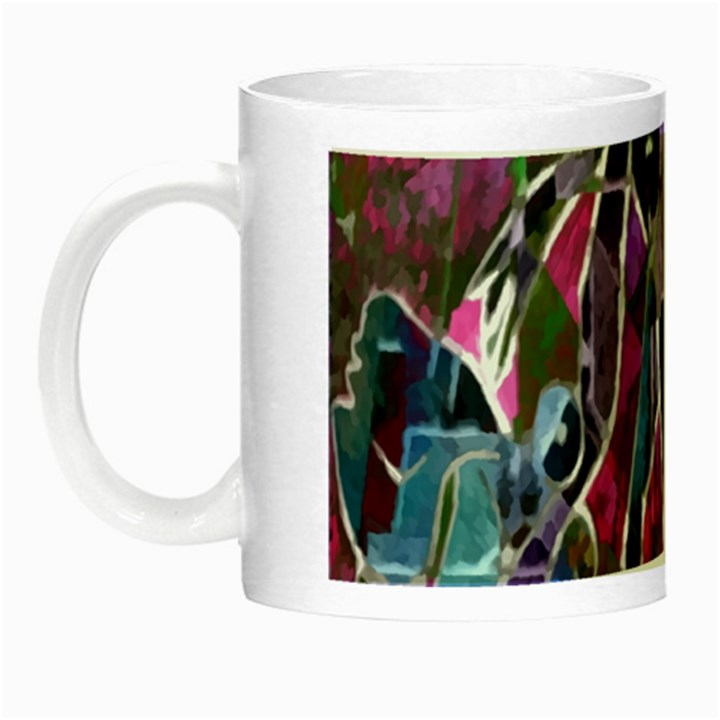 Sly Dog Modern Grunge Style Blue Pink Violet Night Luminous Mugs