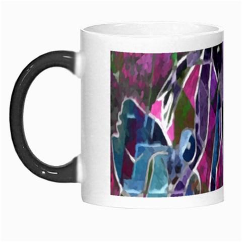 Sly Dog Modern Grunge Style Blue Pink Violet Morph Mugs