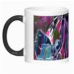 Sly Dog Modern Grunge Style Blue Pink Violet Morph Mugs Left