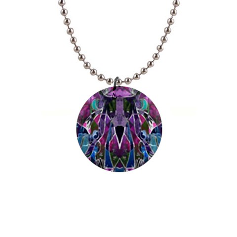 Sly Dog Modern Grunge Style Blue Pink Violet Button Necklaces