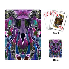 Sly Dog Modern Grunge Style Blue Pink Violet Playing Card