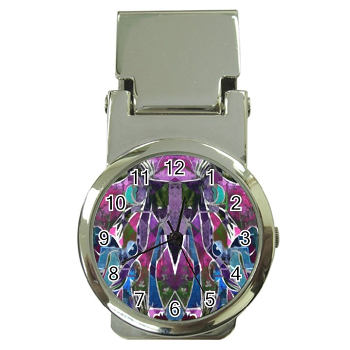 Sly Dog Modern Grunge Style Blue Pink Violet Money Clip Watches