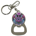 Sly Dog Modern Grunge Style Blue Pink Violet Bottle Opener Key Chains Front
