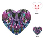 Sly Dog Modern Grunge Style Blue Pink Violet Playing Cards (Heart)  Front