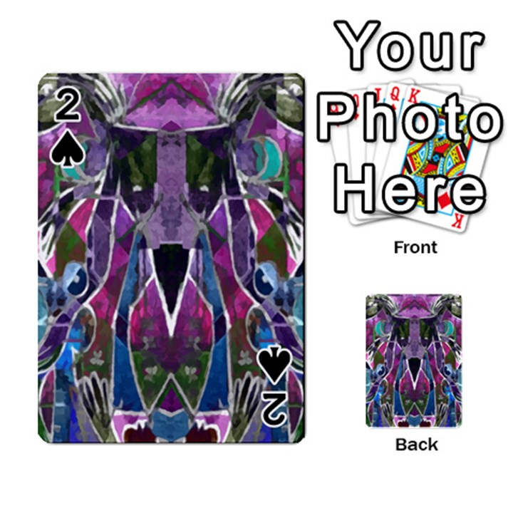 Sly Dog Modern Grunge Style Blue Pink Violet Playing Cards 54 Designs