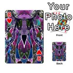 Sly Dog Modern Grunge Style Blue Pink Violet Playing Cards 54 Designs  Front - Heart8