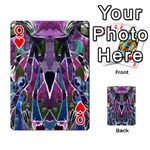 Sly Dog Modern Grunge Style Blue Pink Violet Playing Cards 54 Designs  Front - HeartQ