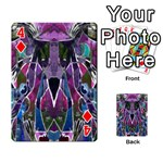 Sly Dog Modern Grunge Style Blue Pink Violet Playing Cards 54 Designs  Front - Diamond4