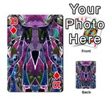 Sly Dog Modern Grunge Style Blue Pink Violet Playing Cards 54 Designs  Front - Diamond10