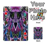 Sly Dog Modern Grunge Style Blue Pink Violet Playing Cards 54 Designs  Front - DiamondA