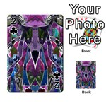 Sly Dog Modern Grunge Style Blue Pink Violet Playing Cards 54 Designs  Front - Club2
