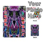 Sly Dog Modern Grunge Style Blue Pink Violet Playing Cards 54 Designs  Front - Joker2
