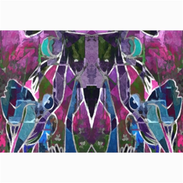 Sly Dog Modern Grunge Style Blue Pink Violet Collage Prints
