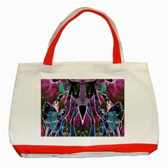 Sly Dog Modern Grunge Style Blue Pink Violet Classic Tote Bag (red)