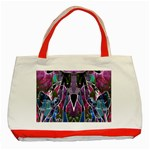 Sly Dog Modern Grunge Style Blue Pink Violet Classic Tote Bag (Red) Front