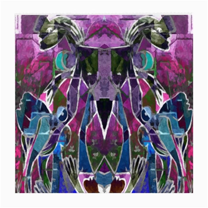 Sly Dog Modern Grunge Style Blue Pink Violet Medium Glasses Cloth (2-Side)