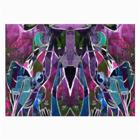 Sly Dog Modern Grunge Style Blue Pink Violet Large Glasses Cloth (2-Side)