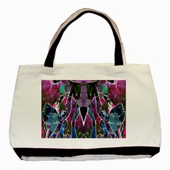 Sly Dog Modern Grunge Style Blue Pink Violet Basic Tote Bag (Two Sides)