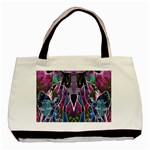 Sly Dog Modern Grunge Style Blue Pink Violet Basic Tote Bag (Two Sides) Back
