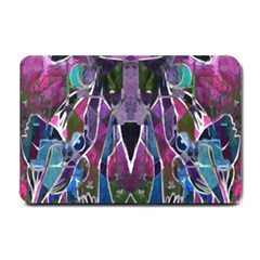 Sly Dog Modern Grunge Style Blue Pink Violet Small Doormat