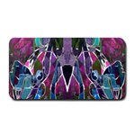 Sly Dog Modern Grunge Style Blue Pink Violet Medium Bar Mats 16 x8.5 Bar Mat - 1