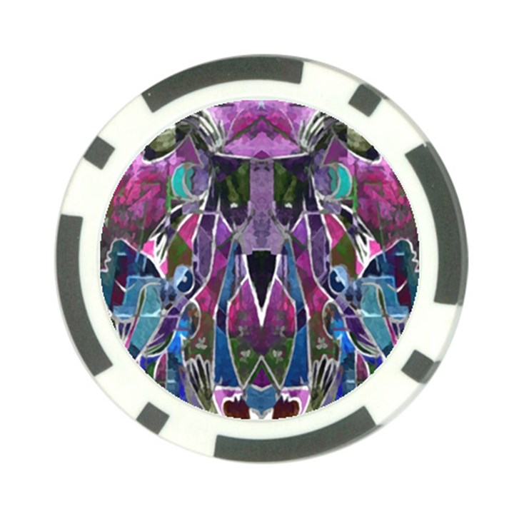Sly Dog Modern Grunge Style Blue Pink Violet Poker Chip Card Guards
