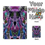 Sly Dog Modern Grunge Style Blue Pink Violet Multi-purpose Cards (Rectangle)  Back 8