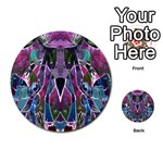 Sly Dog Modern Grunge Style Blue Pink Violet Multi-purpose Cards (Round)  Back 30
