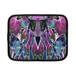 Sly Dog Modern Grunge Style Blue Pink Violet Netbook Case (Small)  Front