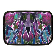Sly Dog Modern Grunge Style Blue Pink Violet Netbook Case (Medium)