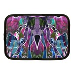 Sly Dog Modern Grunge Style Blue Pink Violet Netbook Case (Medium)  Front