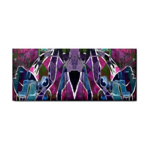 Sly Dog Modern Grunge Style Blue Pink Violet Hand Towel