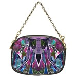 Sly Dog Modern Grunge Style Blue Pink Violet Chain Purses (One Side)  Front