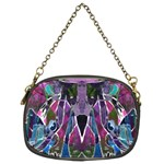 Sly Dog Modern Grunge Style Blue Pink Violet Chain Purses (Two Sides)  Front