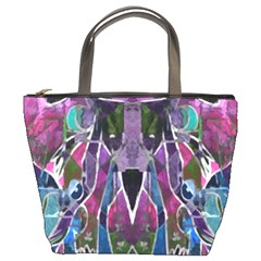 Sly Dog Modern Grunge Style Blue Pink Violet Bucket Bags