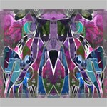 Sly Dog Modern Grunge Style Blue Pink Violet Canvas 20  x 16  20  x 16  x 0.875  Stretched Canvas