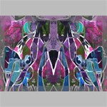 Sly Dog Modern Grunge Style Blue Pink Violet Canvas 18  x 12  18  x 12  x 0.875  Stretched Canvas