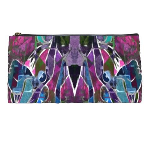 Sly Dog Modern Grunge Style Blue Pink Violet Pencil Cases
